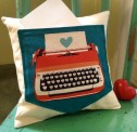 Typewriter Pocket Pillow