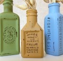 Distressed Embossed Bottles