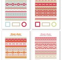 Fair Isle Candle Wraps