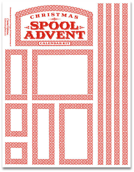 Spool Advent Calendar Kits | Cathe Holden's Inspired Barn