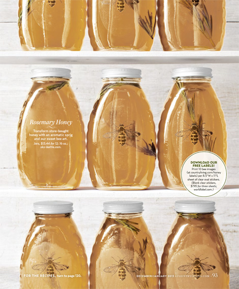 Clever image within honey jar labels printable