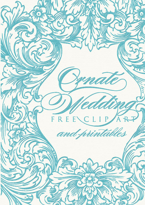 free ornate wedding clip art