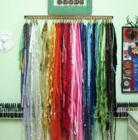 Daring Diy Hanging Ribbon Storage Craft Storage Ideas