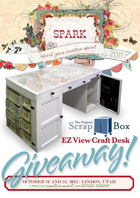 Scrapbox Ez View Craft Desk Giveaway At Spark Cathe