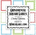 Ornamental Square Labels