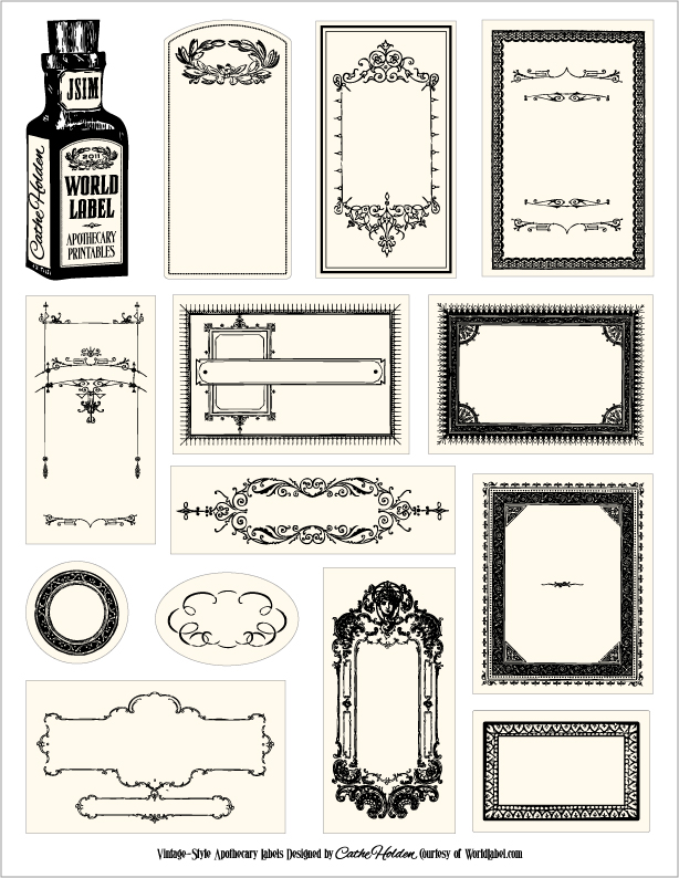 Papercraft apothecary jar labels tags ideas versiontpjustsomethingimadewp conpothecary1g pronofoot35fo Gallery