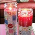 Quilted Candles